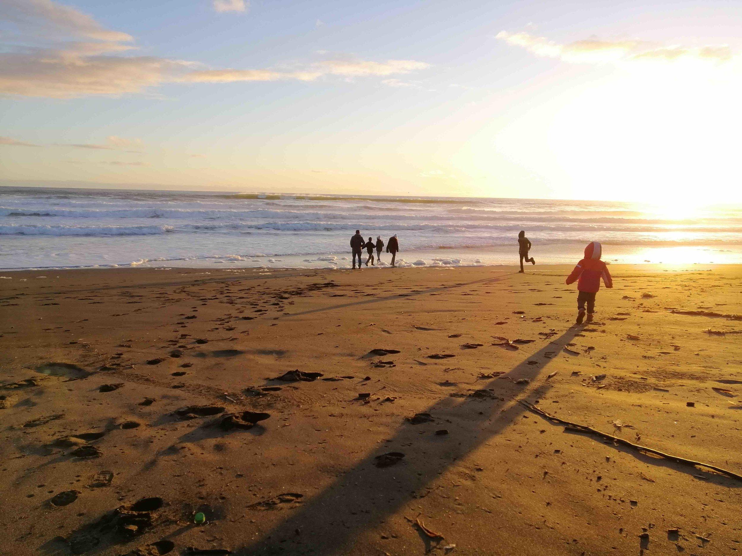 La playa Curiñanco - Es un espectáculo todas las estaciones del año.
