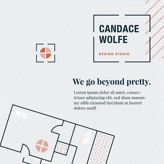 Unused branding concept for an Edmonton based Interior Design studio. And the first time I can say all my floorplan building experience from my early days as a designer came in handy 😂