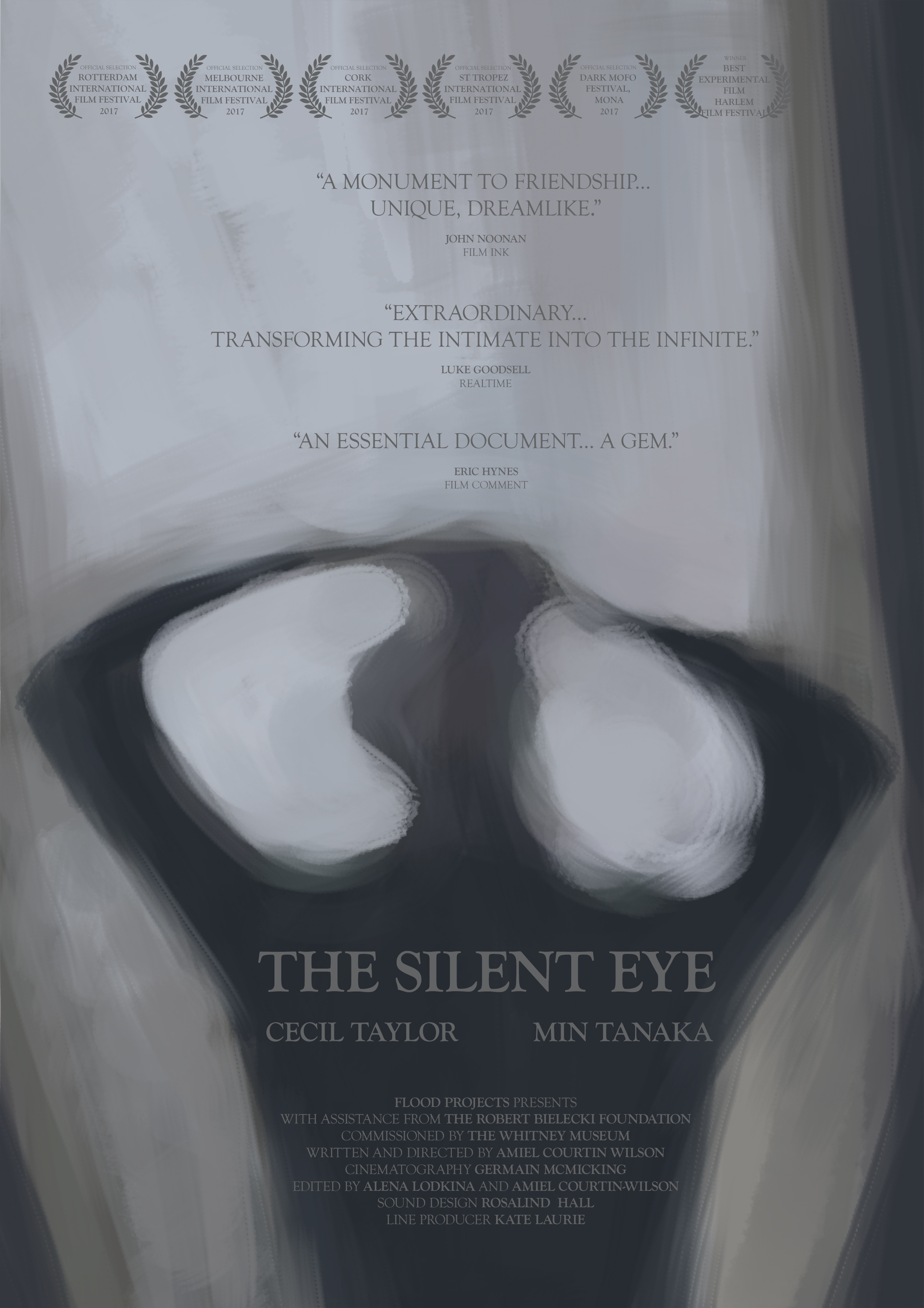 - THE SILENT EYE is a highly intimate, impressionistic portrait of the unspoken rapport between Cecil Taylor and Min Tanaka – two masters of their form who have collaborated for over thirty years.