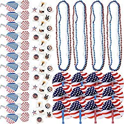 red white and blue decorations