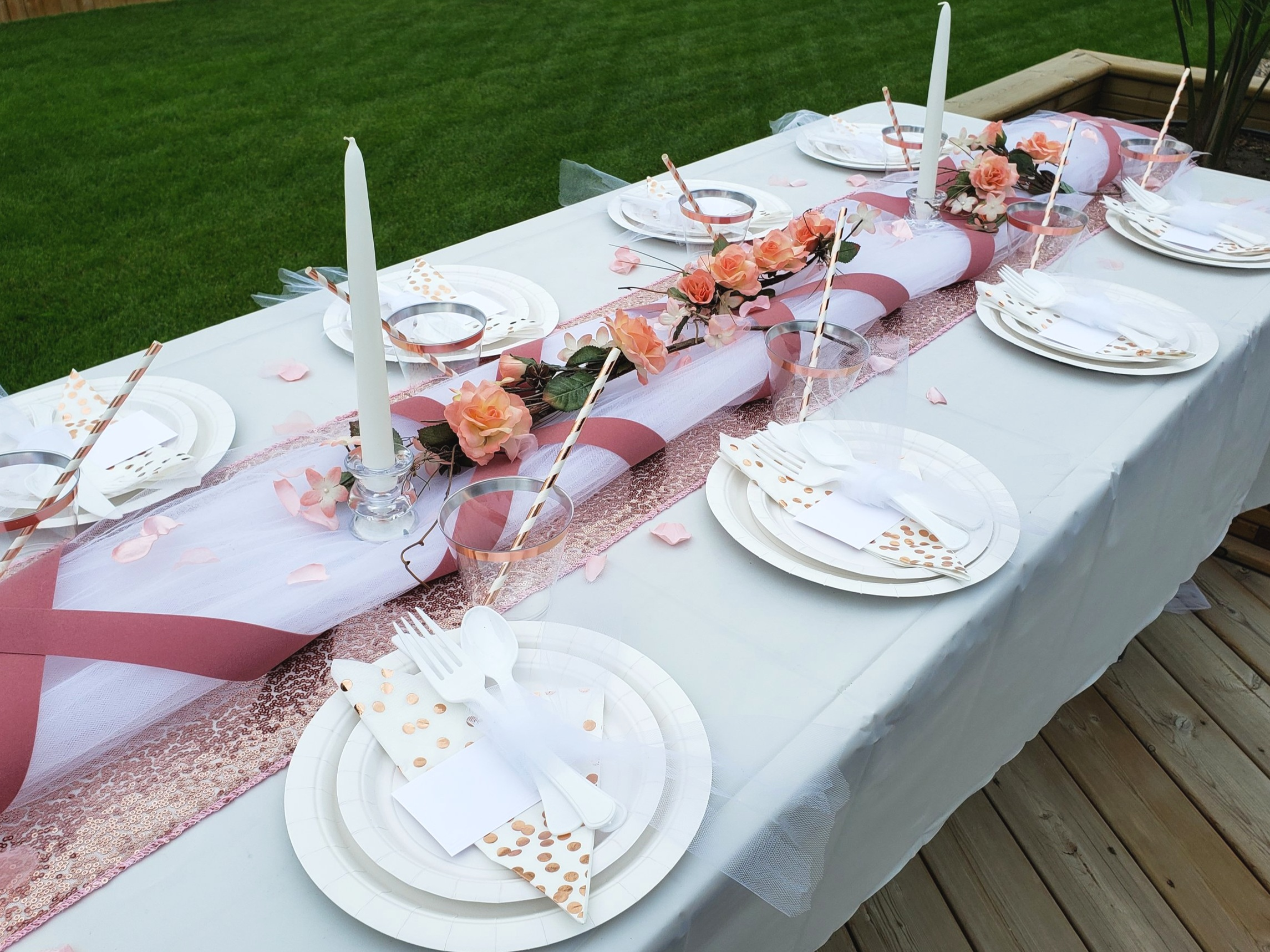 Elegant Rose Gold Summer Party