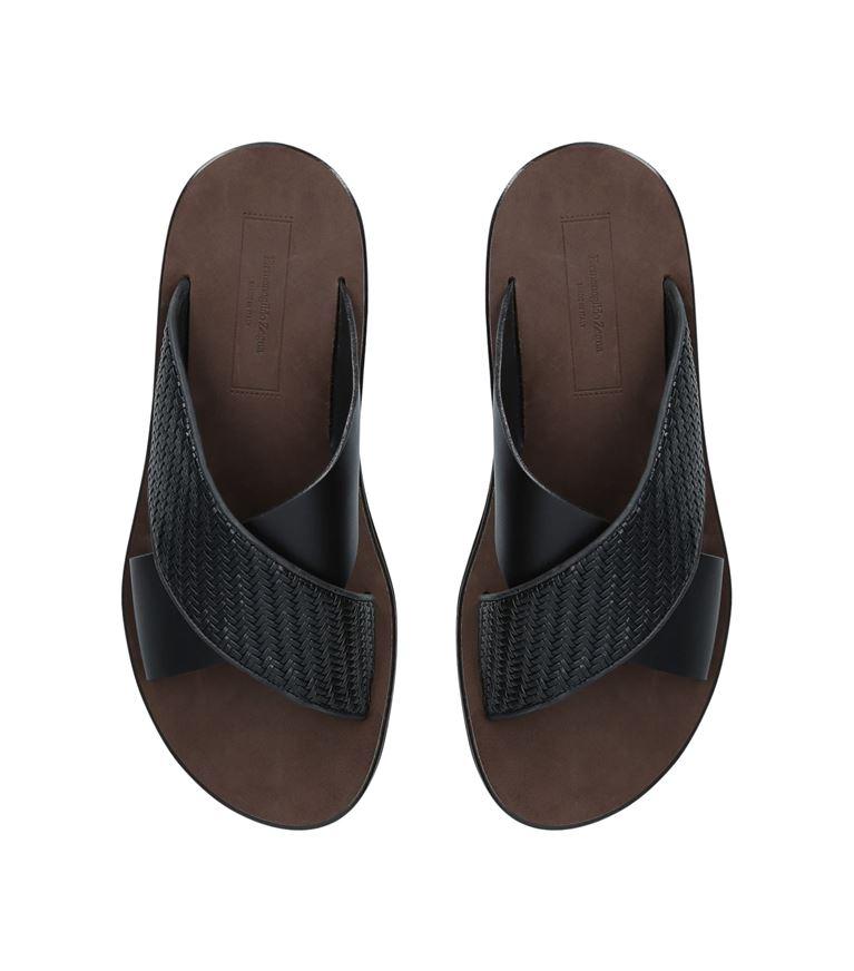 △  Ermenegildo Zegna Leather Pellatessuta Slides  HK$4172