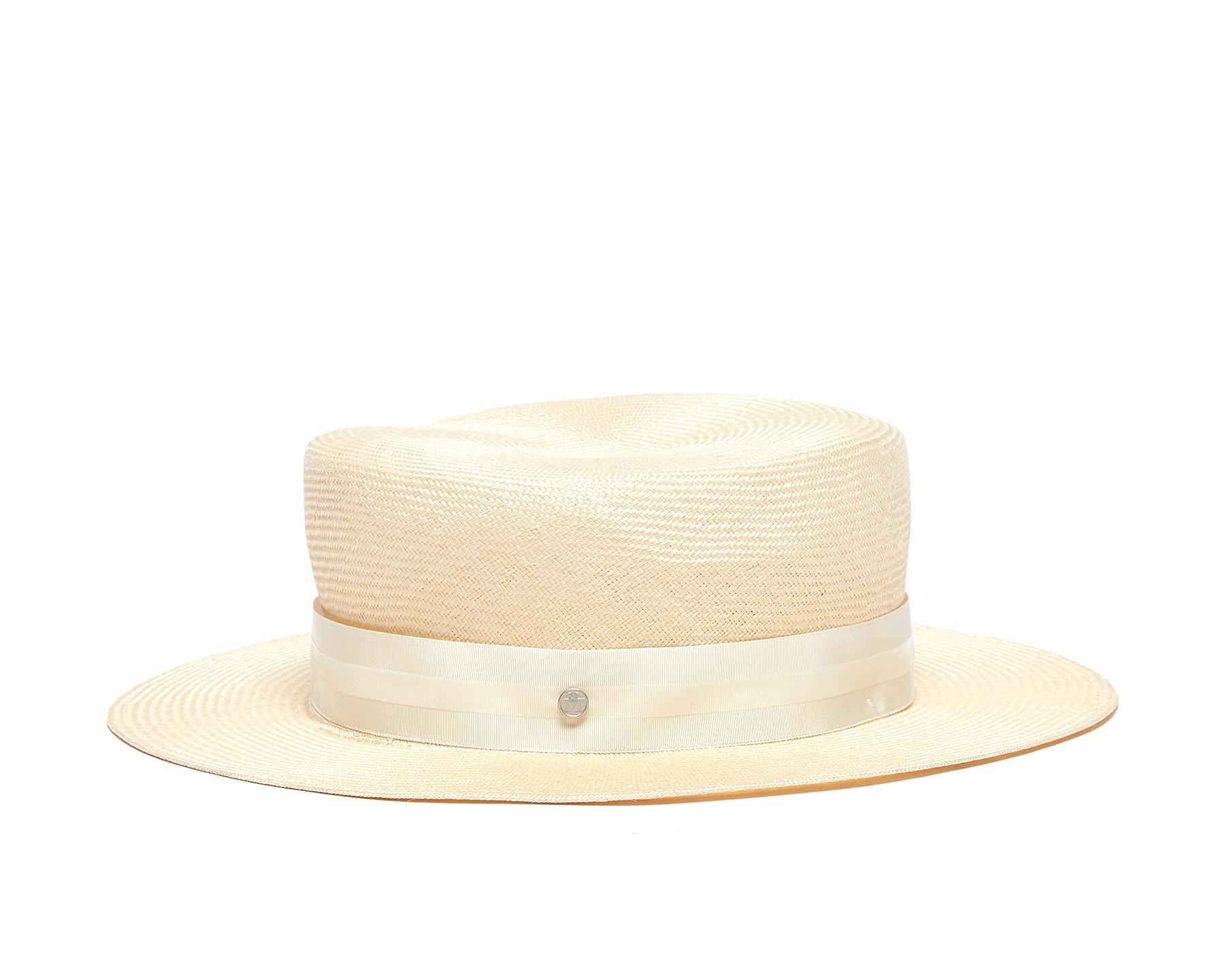 △  Maison Michel 'Kiki' Straw Canotier Hat  US$670 (~HK$5259)