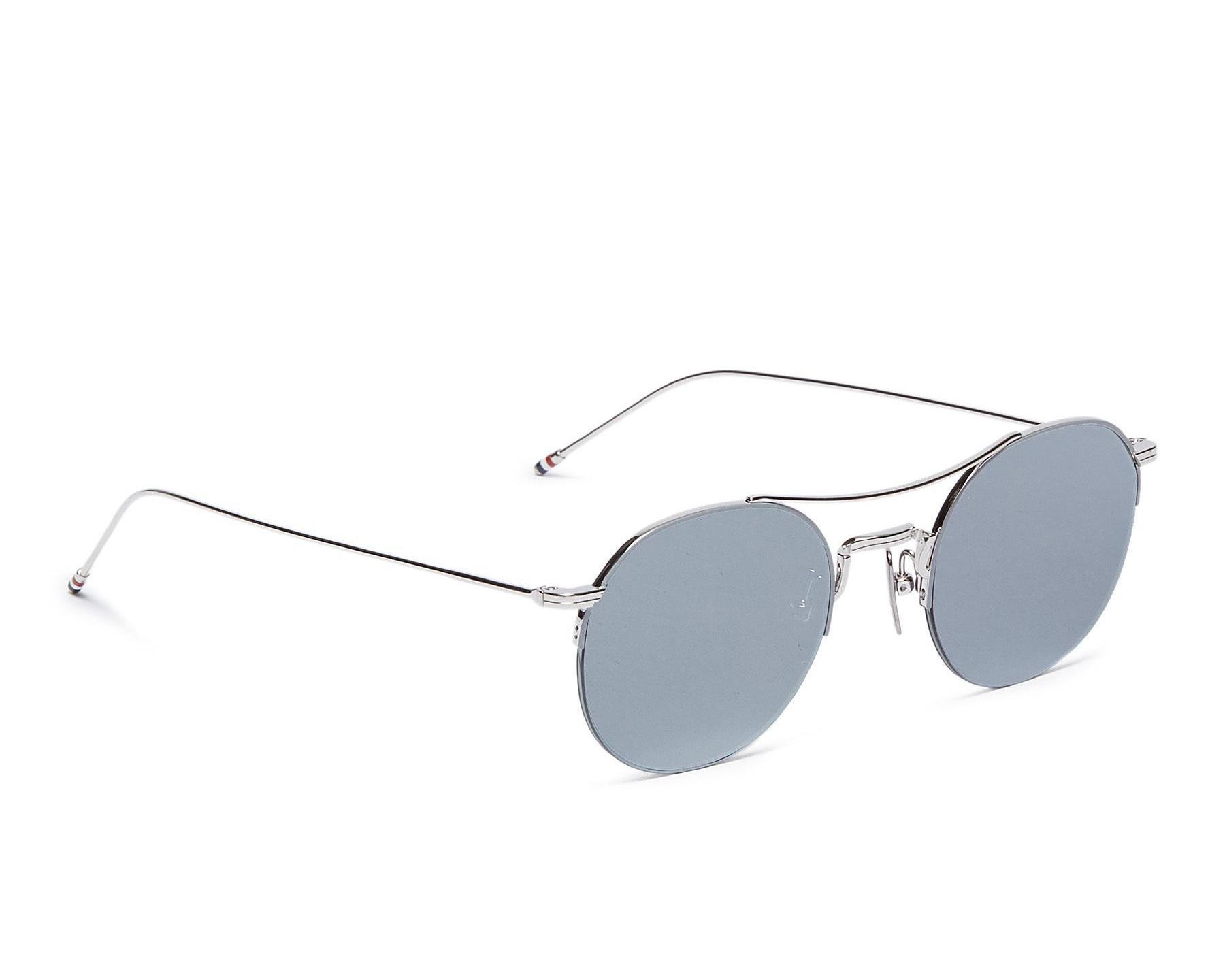 △  Thom Browne Browbar Mirror Metal Round Sunglasses  HK$4950