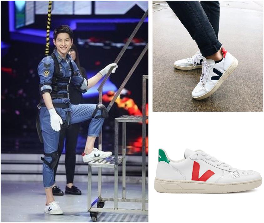 △  VEJA V-10 Leather Sneakers  EU€125