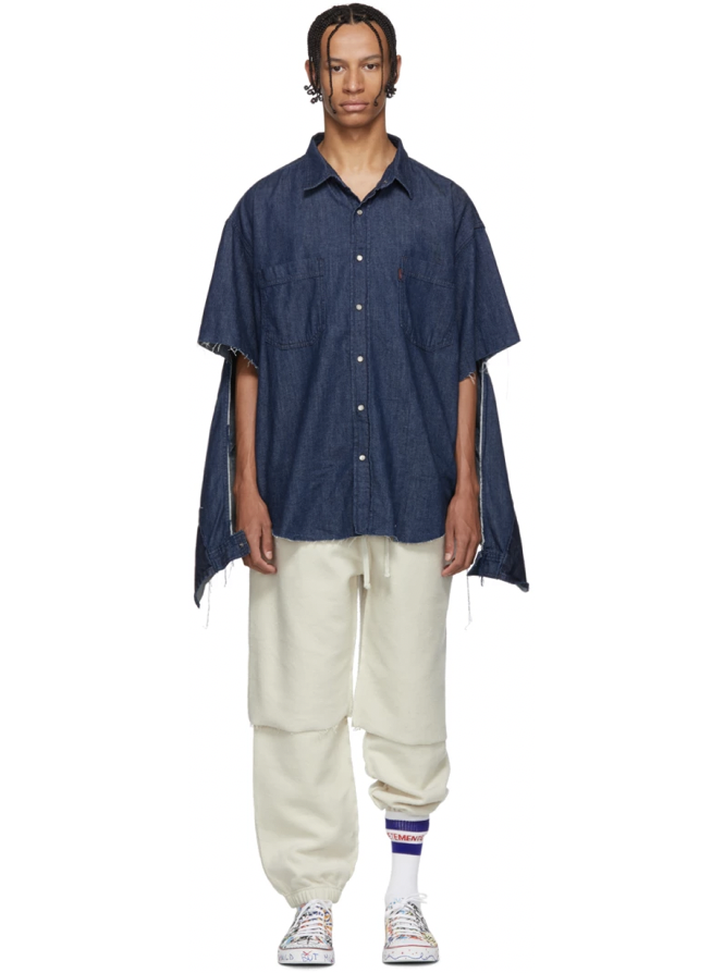 △ Vetements Navy Levi's Edition Oversized Denim Shirt  US$765 (~HK$5,967)