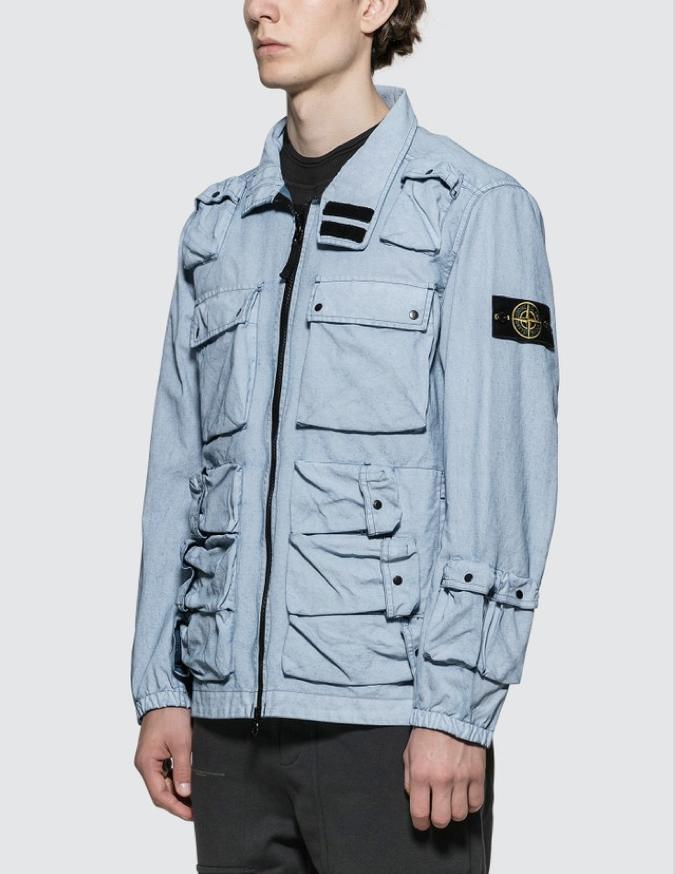 △ STONE ISLAND Canvas Placcato Jacket  HK$6,366