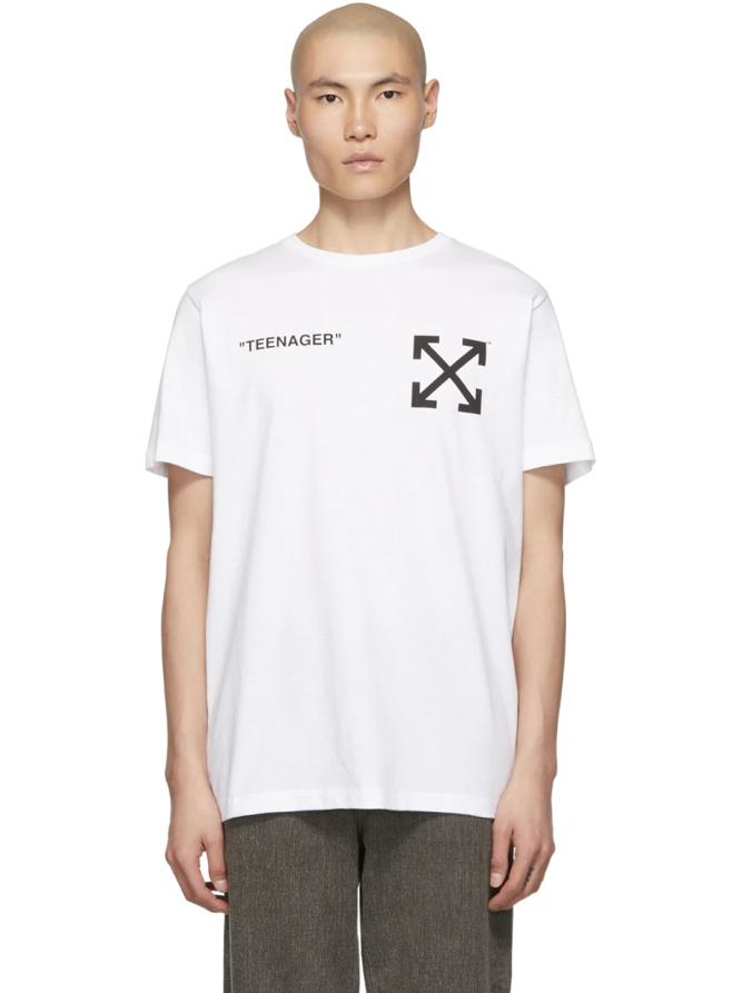 △ Off-White White Flamed Bart Slim T-Shirt  HK$1,996