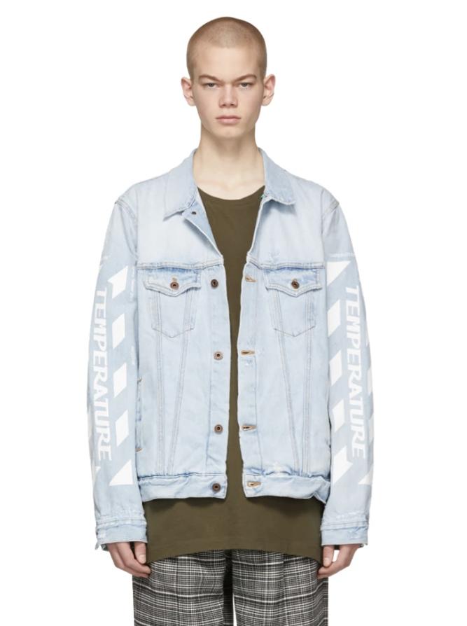 △ Off-White SSENSE Exclusive Blue Denim 'Temperature' Jacket