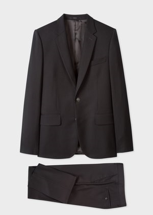 △  Paul Smith For Men In Black: International - Men's Tailored-Fit Black Wool 'A Suit To Travel In' £985
