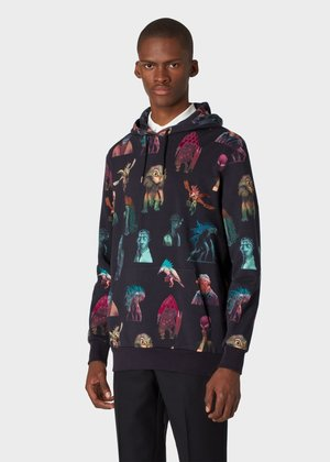 △  Paul Smith For Men In Black: International - Men's Black 'Alien' Cotton Hoodie £425