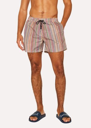△  Men's 'Signature Stripe' Print Swim Shorts £100.00