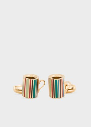 △  Men's Signature Stripe Mug Cufflinks £150.00