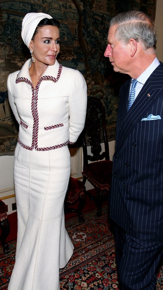 Sheikha of Qatar in Chanel
