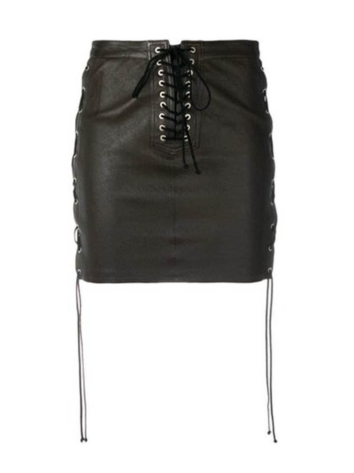 △ UNRAVEL Lace-up Leather Mini Skirt  HK$4,754