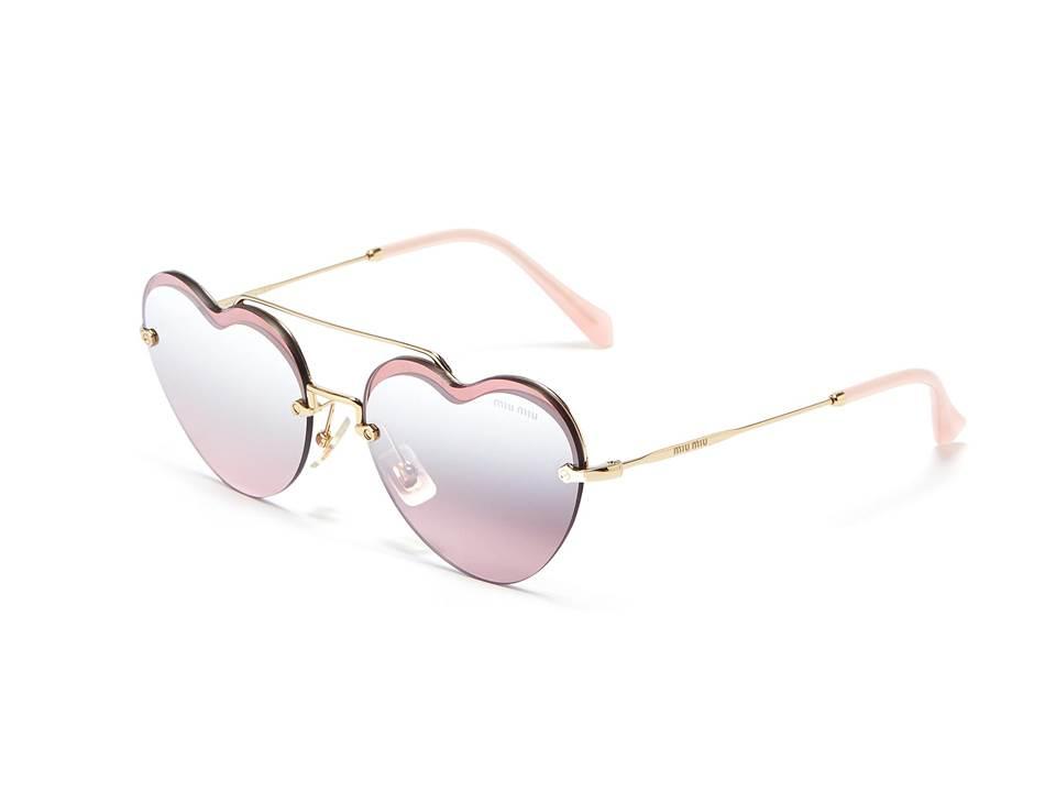 △ MIU MIU Mirror Heart Frame Metal Sunglasses  US$330 (~HK$2,580)