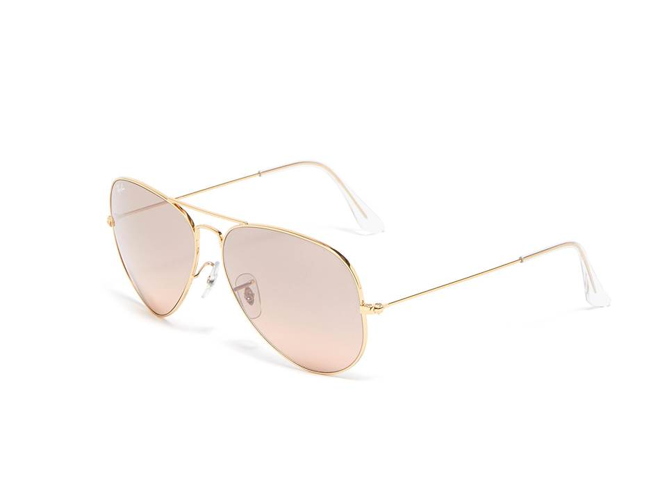 △ Ray-Ban 'Aviator Gradient' Mirror Metal Round Sunglasses  US$185 (~HK$1,446)