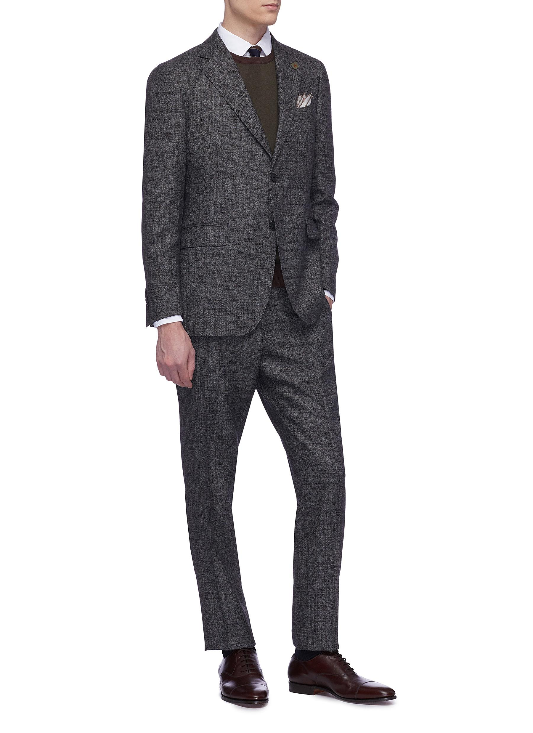 △ Lardini Check Wool Suit  US$1,735 (~HK$13,573)