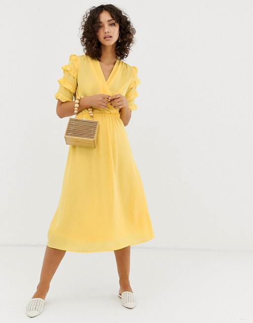 △ ASOS Vero Moda aware micro ruffle sleeve midi dress  HK$444
