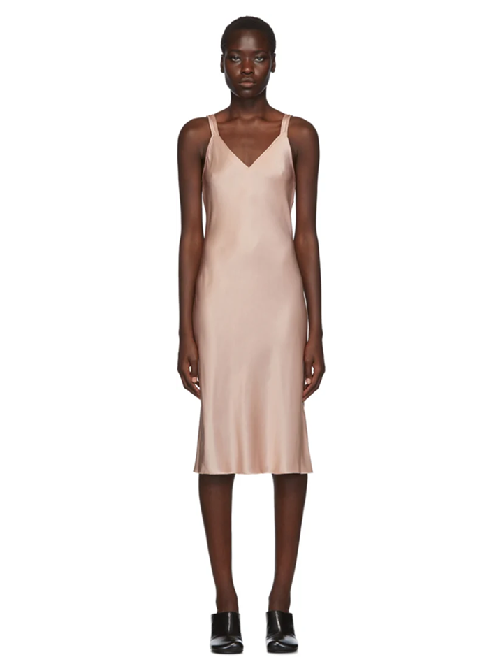 △ Helmut Lang Pink Double Strap Satin Slip Dress  HK$4,870