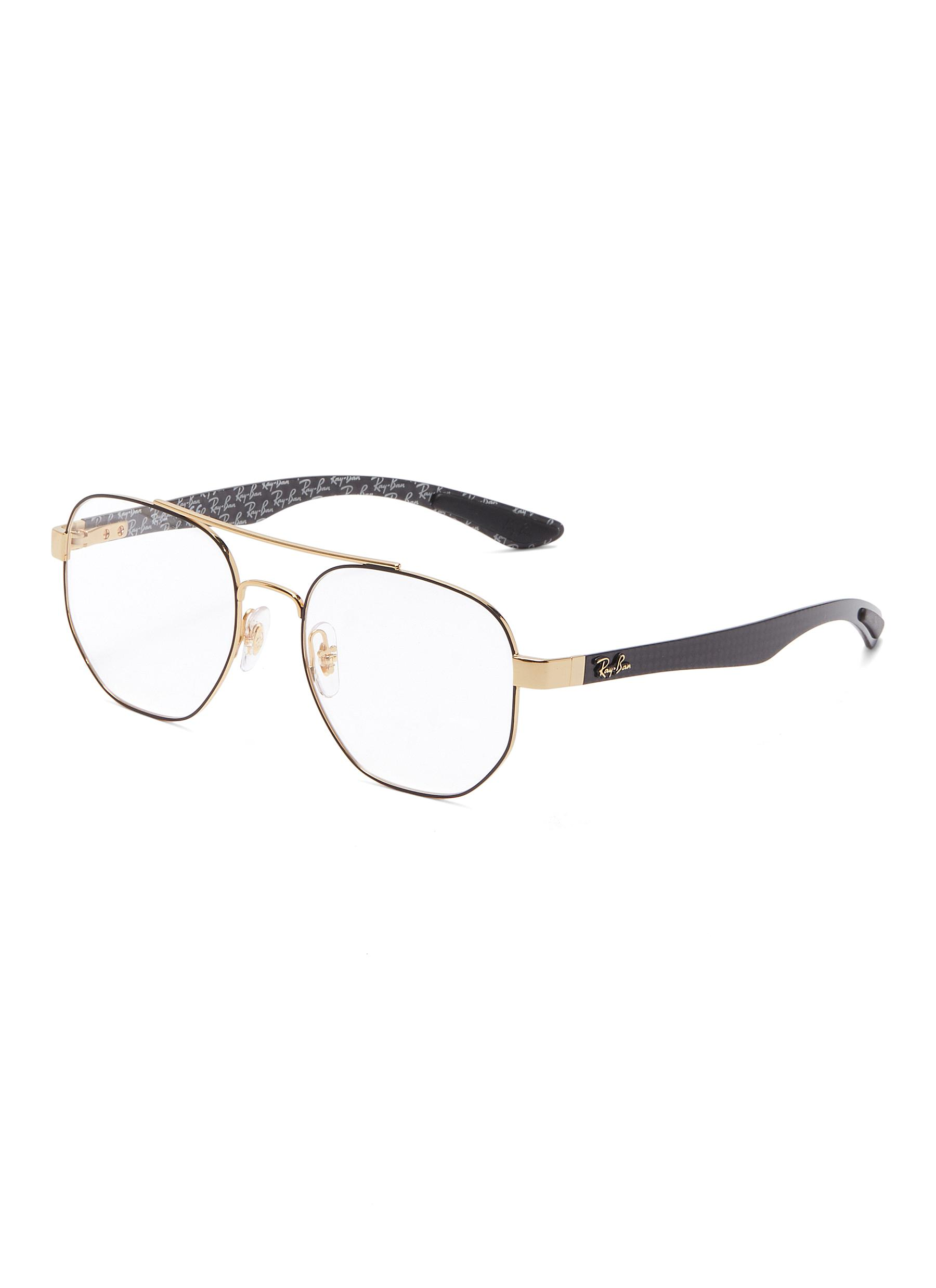 △ Ray-Ban 'Rx8418' Contrast Temple Metal Square Optical Glasses  US$205 (~HK$1,608)