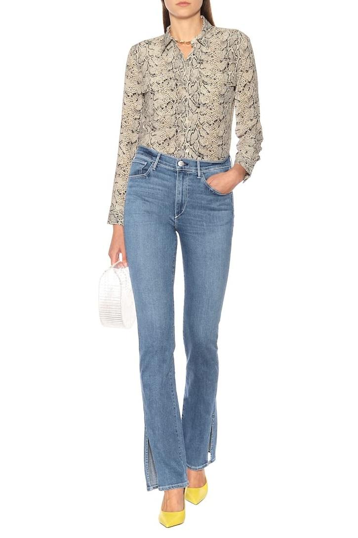△ 3X1 W3 Split Seam Bell High-Rise Jeans  HK$2,200