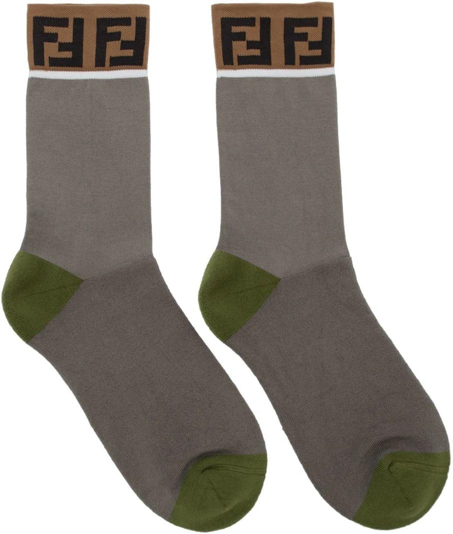 △ Fendi Grey & Green 'Forever Fendi' Socks  HK$880