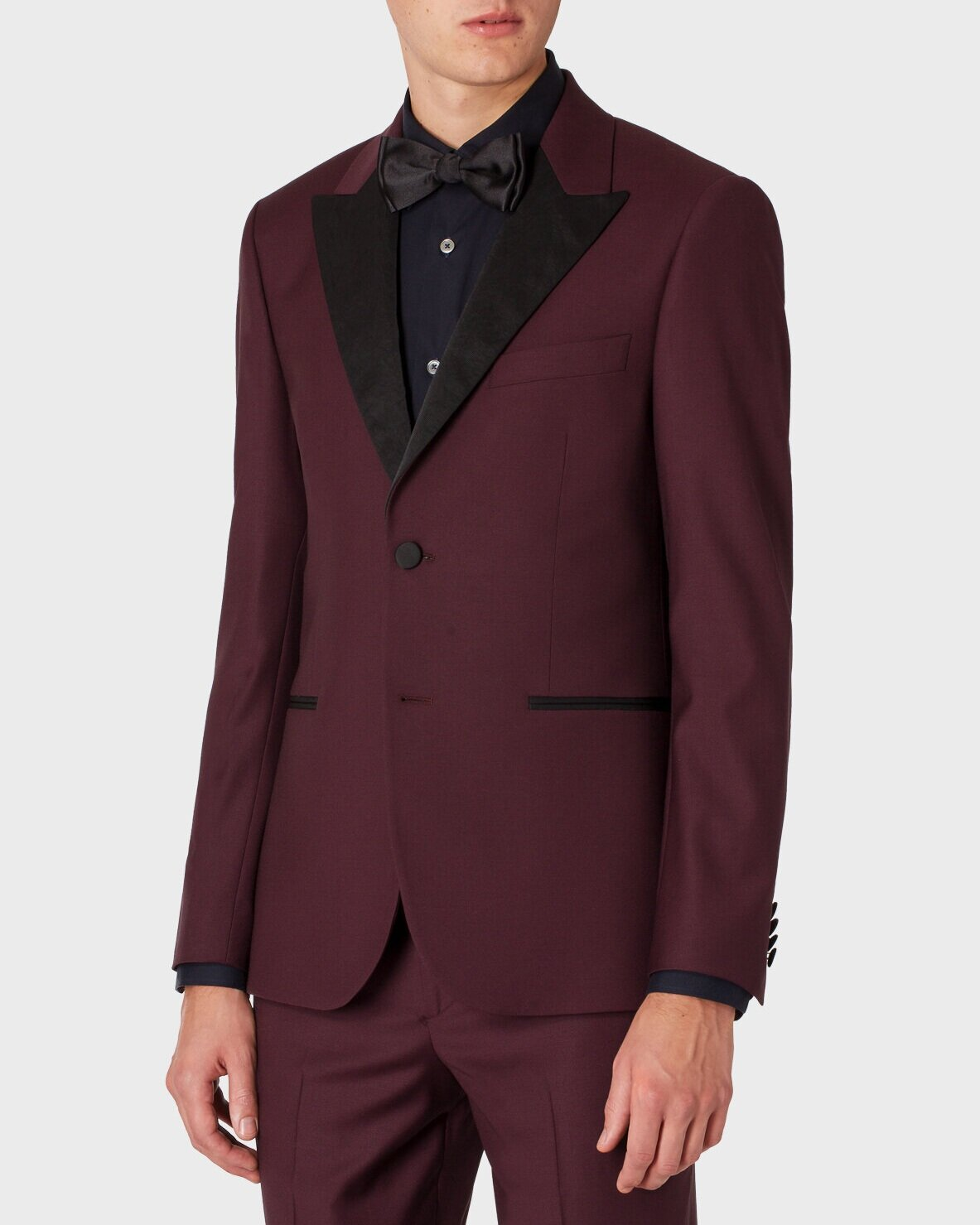 △ Paul Smith The Soho - Men's Tailored-Fit Damson Wool Evening Suit  £1,210.00 (~HK$11,766)