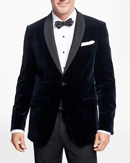 △ Brooks Brothers Regent Fit Black Watch Shawl Collar Tuxedo Jacket  US$698 (~HK$5,461)