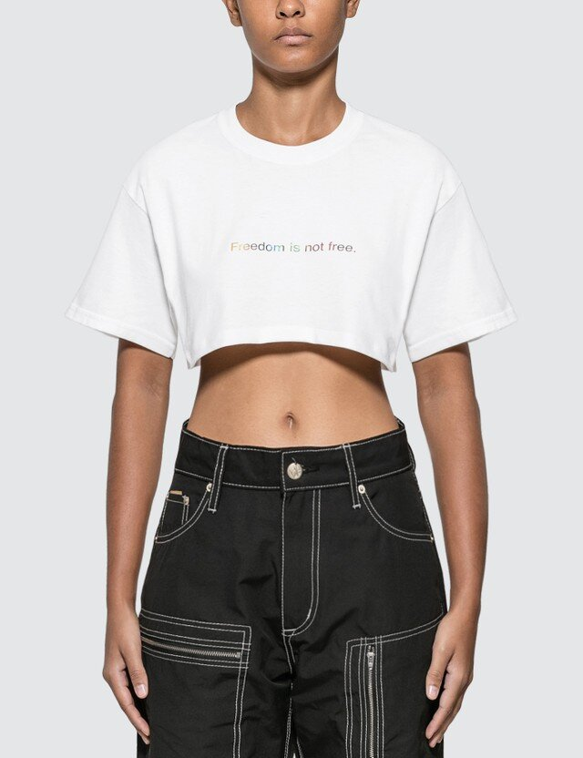 △ Fuck Art, Make Tees Freedom Is Not Free. Cropped T-shirt  HK$510