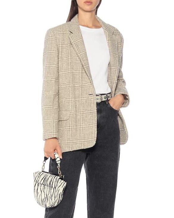 △ Isabel Marant Étoile Korix checked wool-blend jacket  HK$4,900
