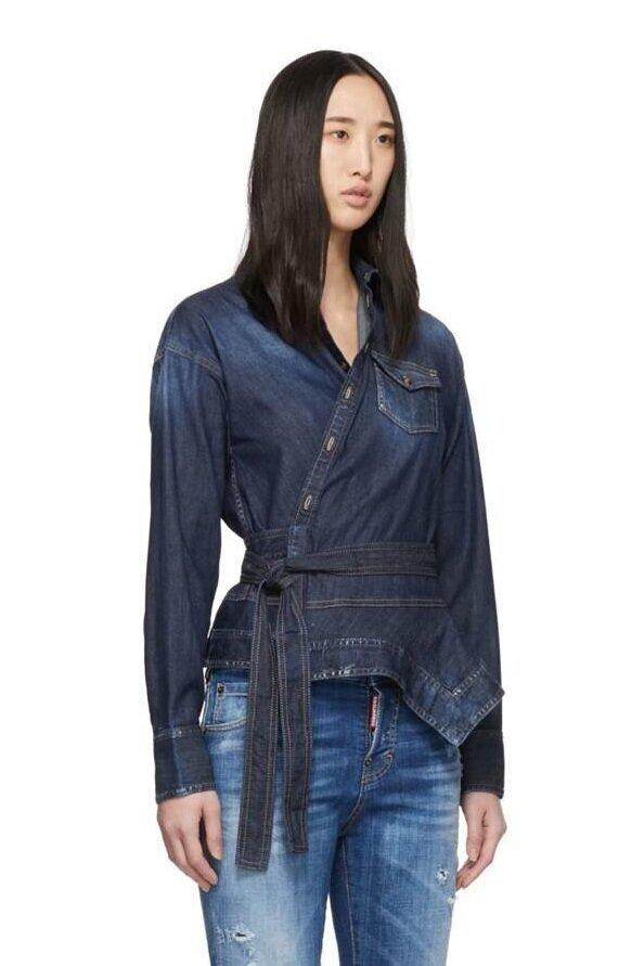 △ Dsquared2 Blue Denim Handkerchief Shirt  HK$3,780