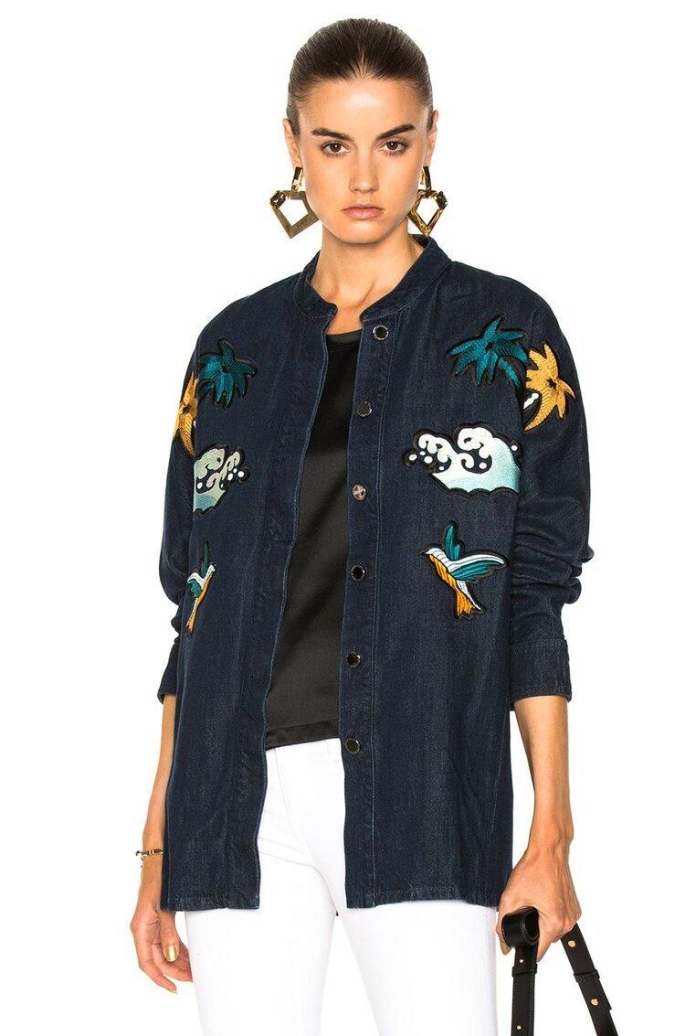 △ Victoria Victoria Beckham Embroidered Denim Shirt  HK$3,371