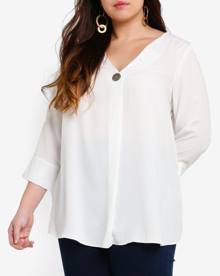 Dorothy Perkins DP Plus Size White Shirt    HK$320