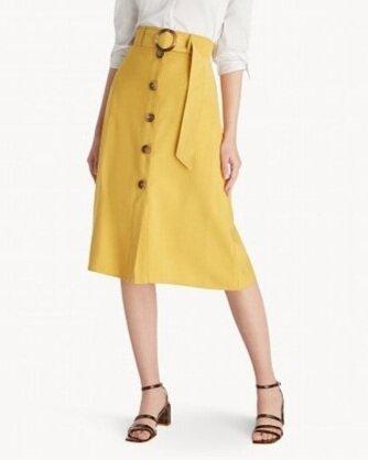 Pomelo Midi Belted Shift Skirt - Yellow  HK$235
