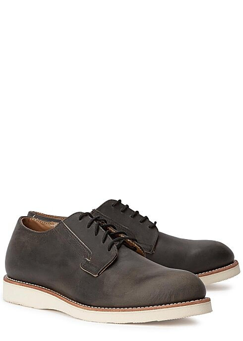 RED WING SHOES Postman Oxford charcoal distressed leather shoes  HK$2,300