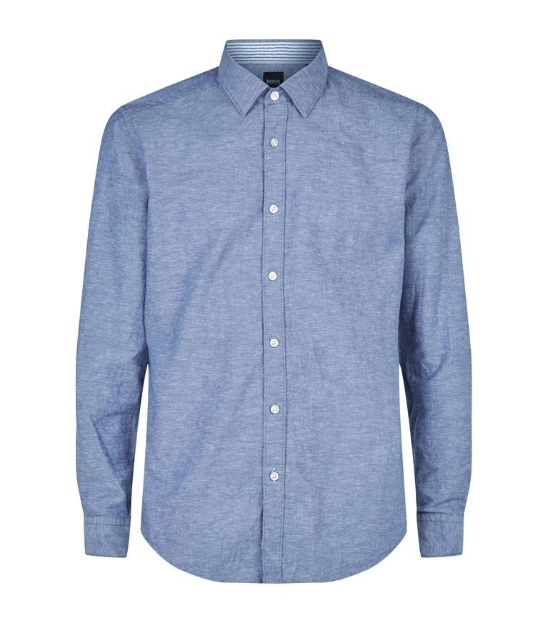 △ BOSS Cotton-Linen Oxford Shirt  HK$868