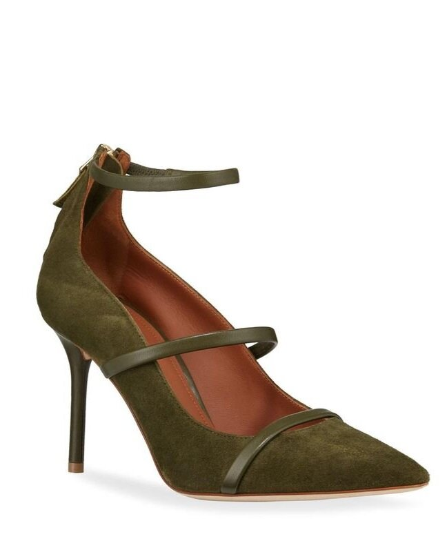 Malone Souliers 85mm Robyn Leather & Suede Pumps  HK$5,000