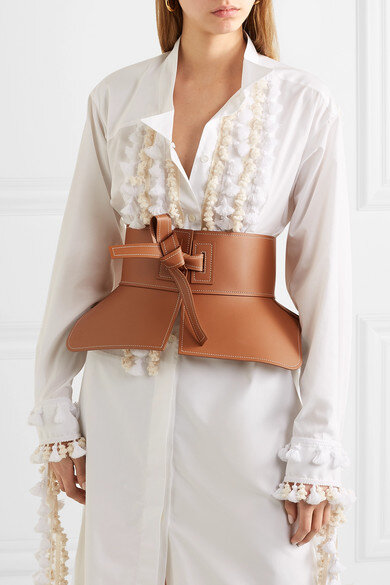 LOEWE  Obi leather waist belt via Net-A-Porter