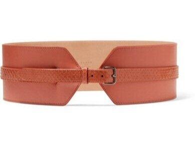 ALAÏA Elaphe-trimmed Leather Waist Belt  HKD$6,630