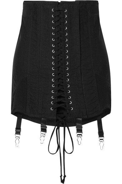 Orseund Iris Gamine lace-up cotton-twill mini skirt  HKD$5,960