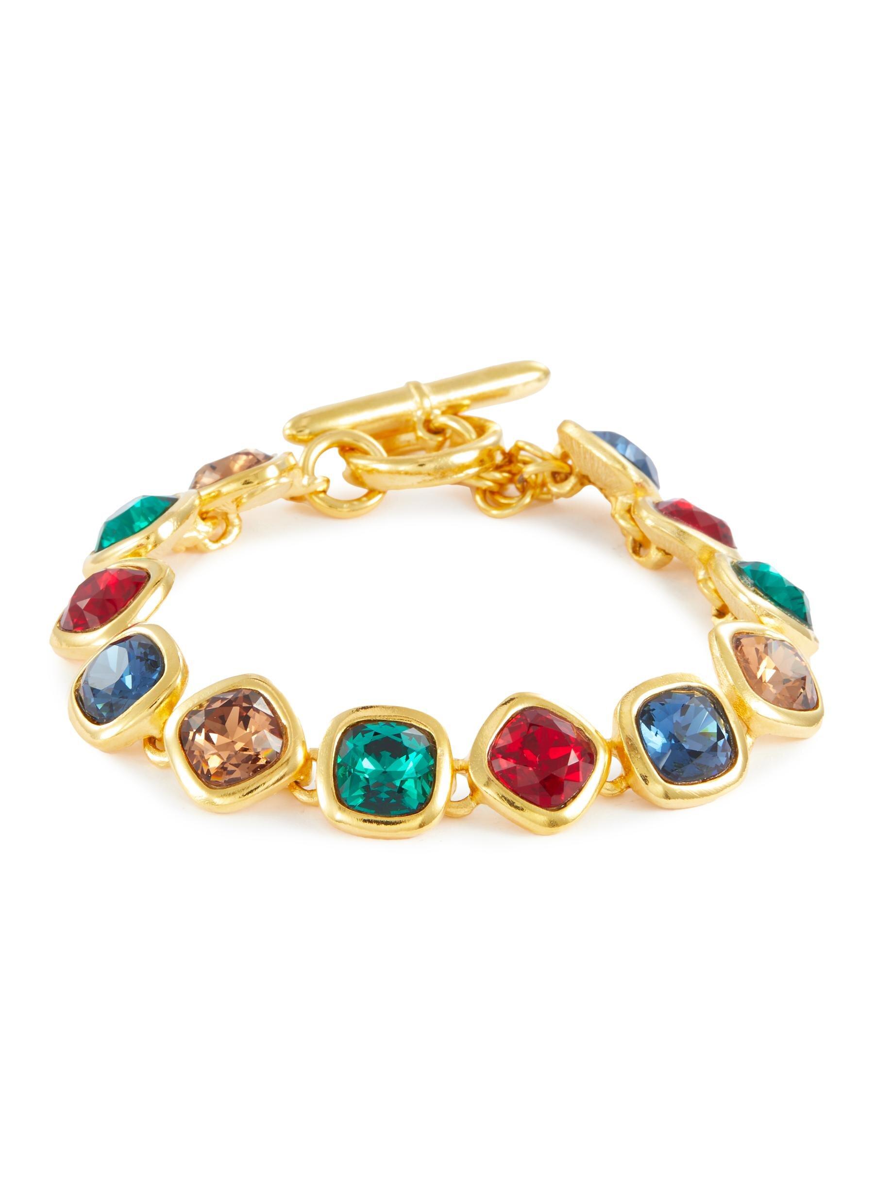 Kenneth Jay Lane Gemstone Link Bracelet  HKD$1,890