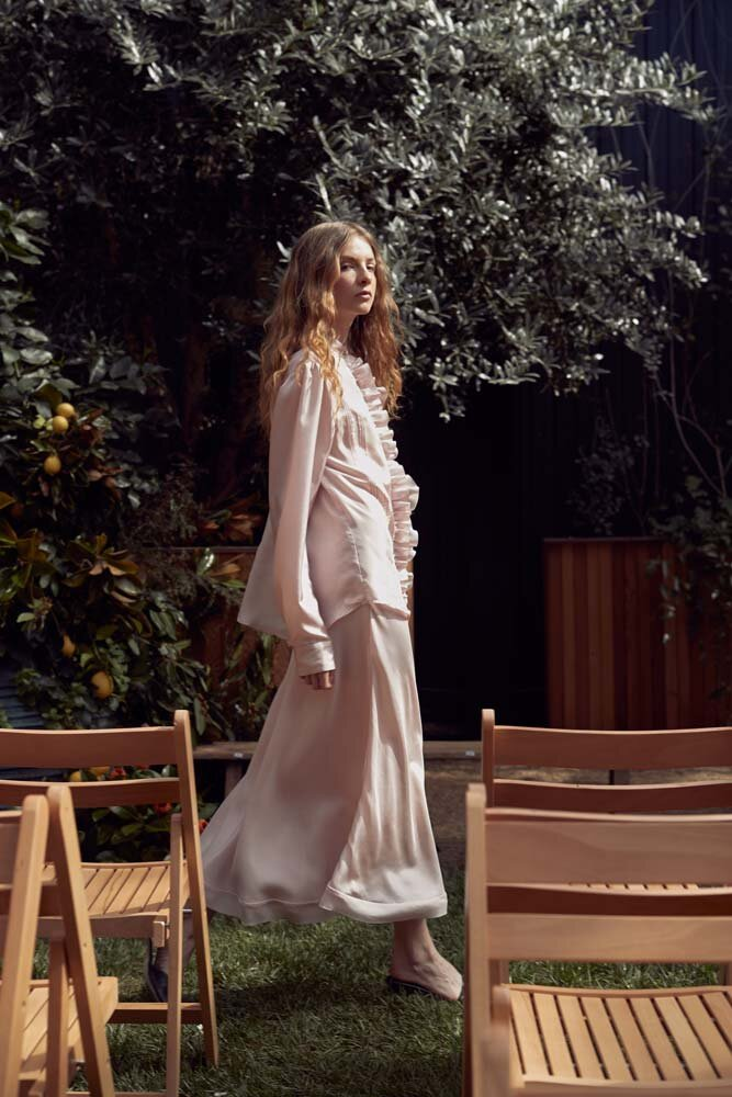 MAGGIE MARILYN for NZFW '19. - if you know our creative director and visionary kelly karam, then you'll know she's almost always dressed head to toe in MM. we adore MAGGIE and her team, so WHAT AN HONOUR IT WAS BRING THE GARDEN SCAPE TO LIFE. dreamy? yes, indeed.