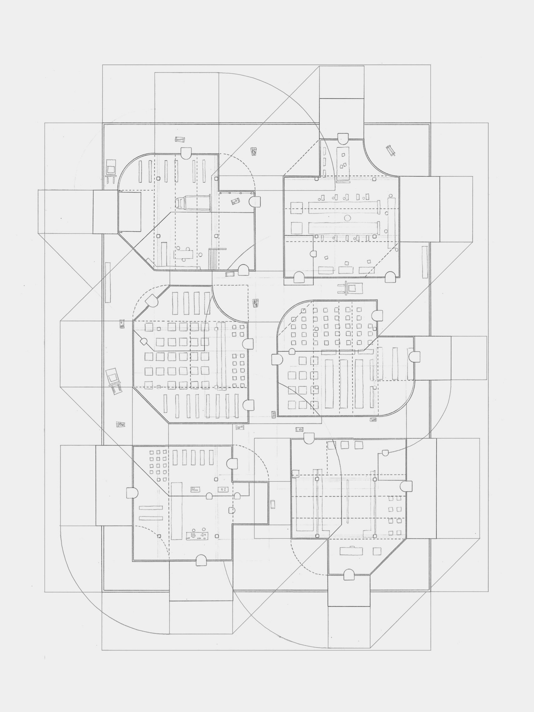 The Persistence of Forgetting     Floor Plan    0.3 mm HB lead on 8 lb trace    18 in x 22 in