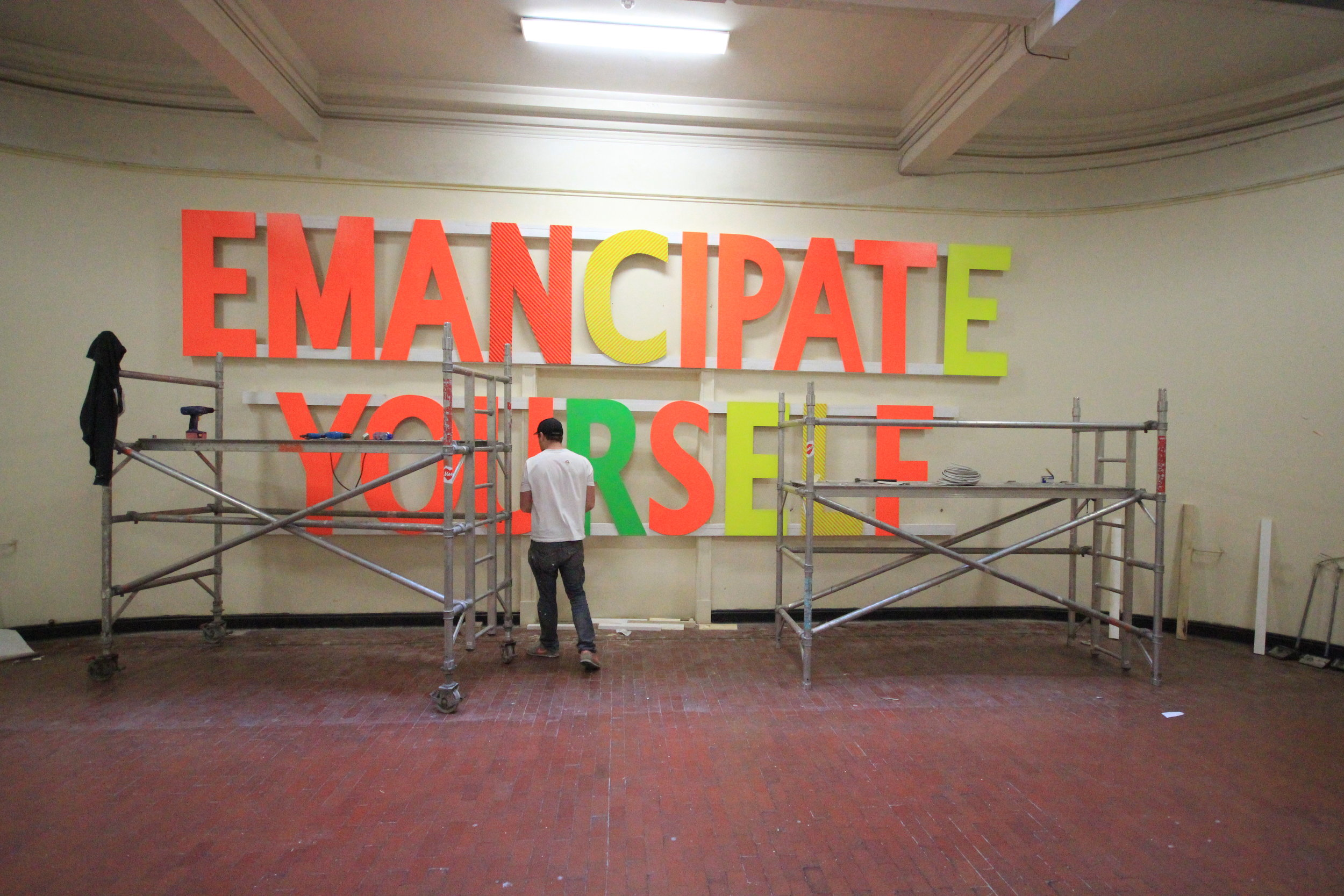 "MASER- ""The Emancipator"" Dublin Contemporary 2011. Collaboration and build."