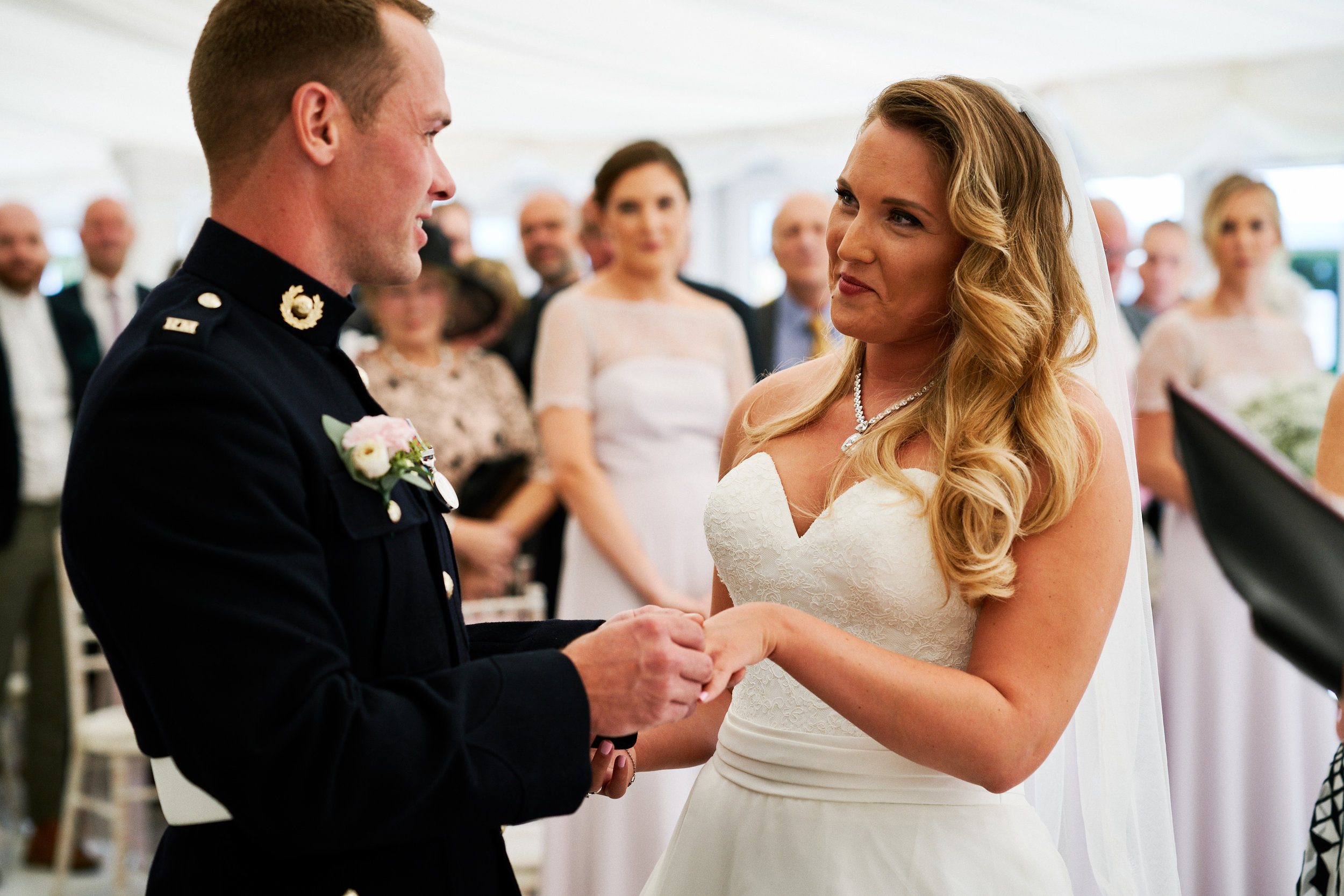 Saying The Vows - A romantic outdoor setting at Trunkwell House