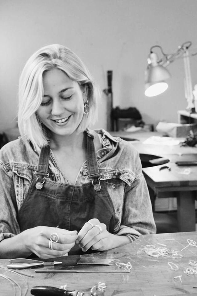 TOVE MIKA - Tove is a fantastic jewellery designer who makes all of her silver jewellery in recycled sterling silver. The jewellery displayed in our lookbook for the ARENARIA Collection is her beautiful work.