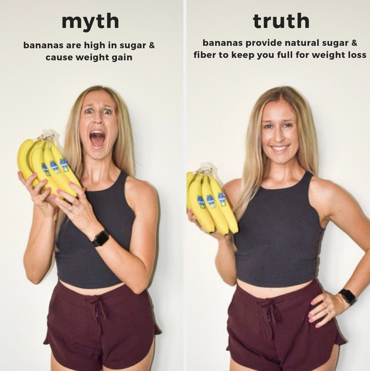 banana weight gain myth truth