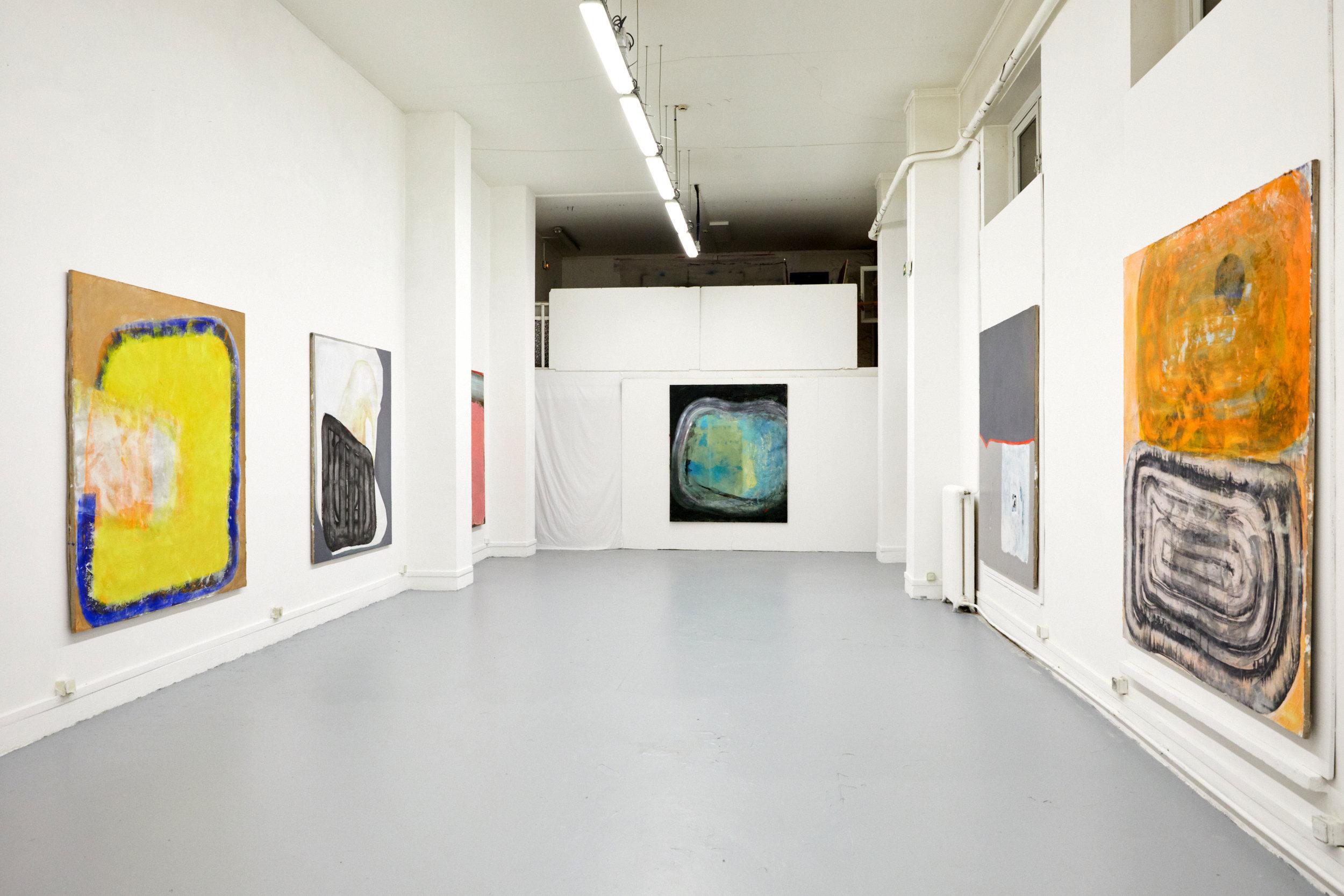 """""""Red hill"""" Masters degree show, Ecole Nationale Supérieure des Beaux-Arts de Paris, France  December 2018  Shot by Timotheus Theisen"""
