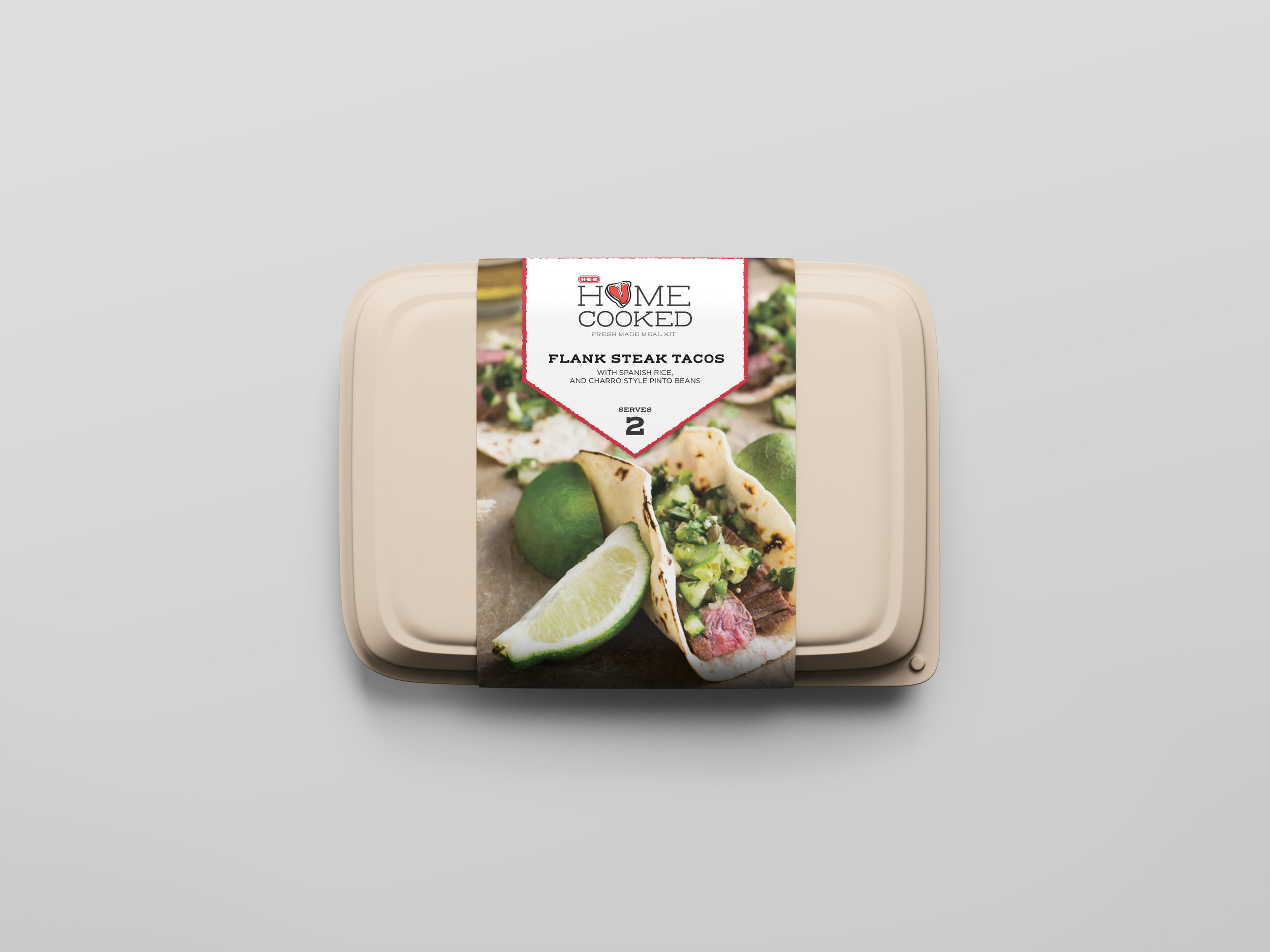 Medium sized packaging. To be used for meals serving 2-3 servings.